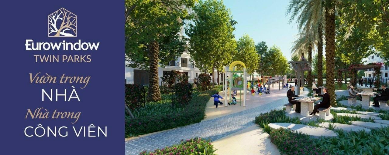 Eurowindow Twin Parks có nhiều không gian xanh tuyệt vời.