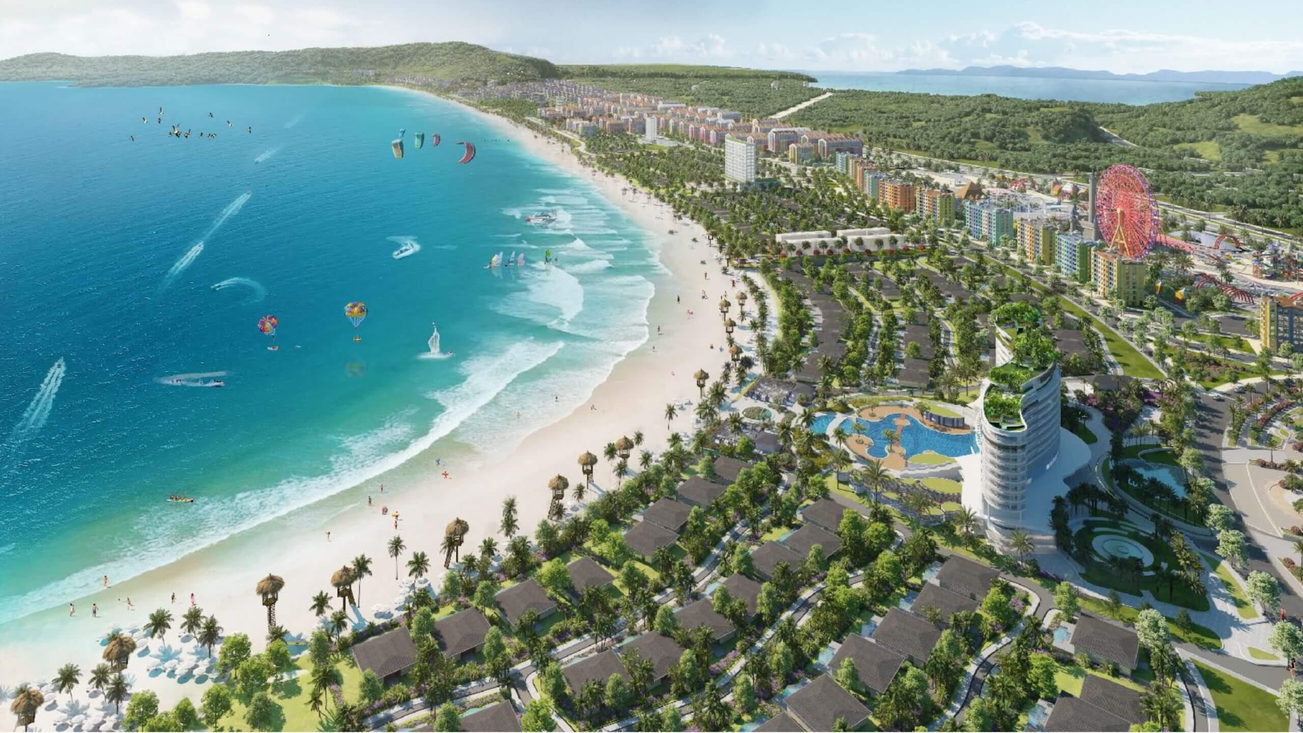 Phối cảnh siêu dự án Wonder City Vân Phong Bay.