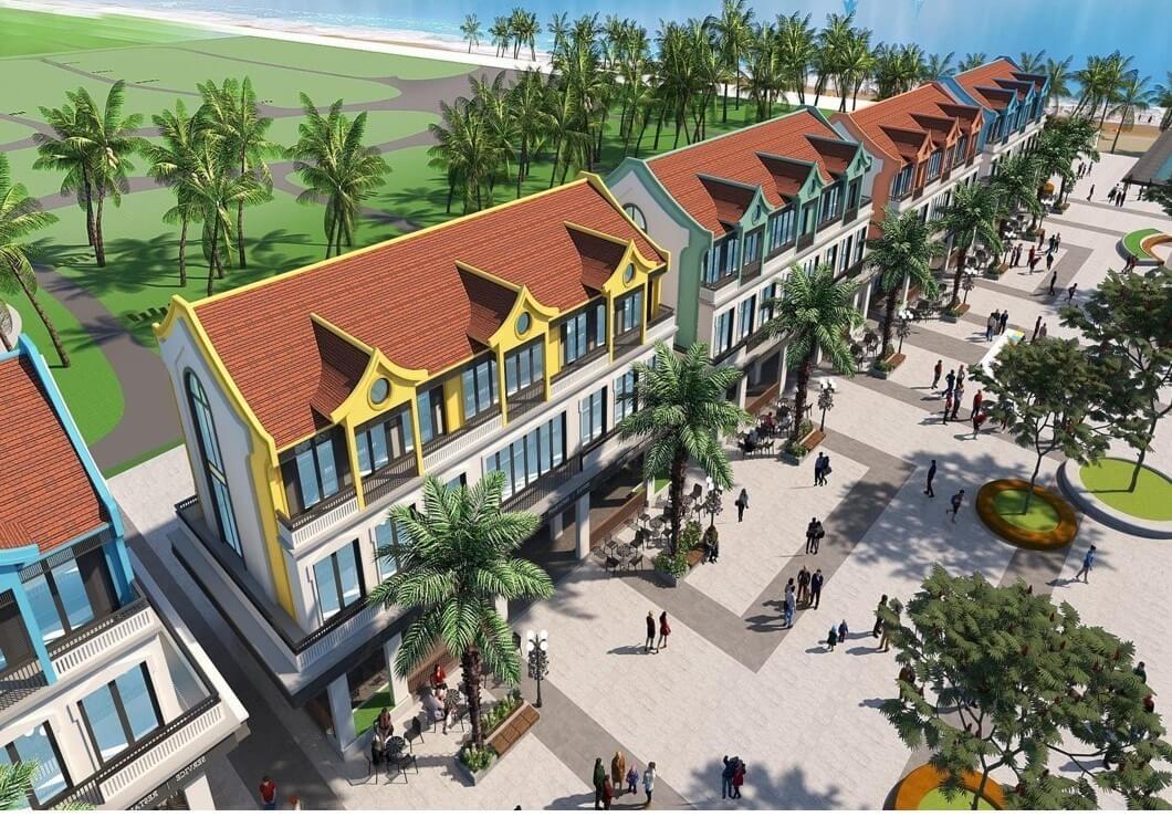 Khu phố mua sắm mang dáng vẻ xưa tại Wonder City Vân Phong Bay.