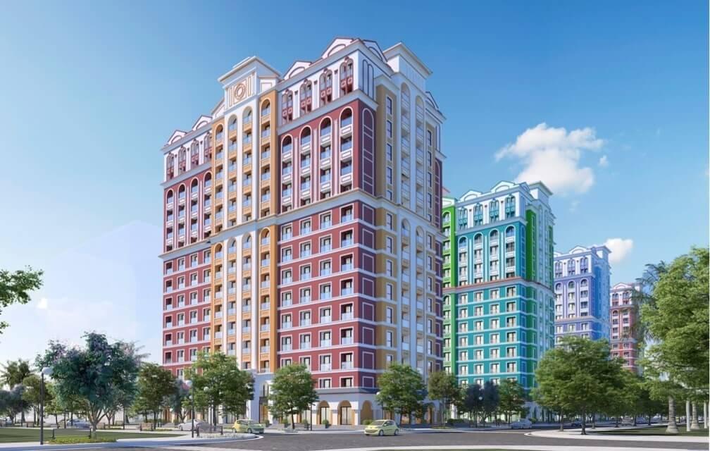 Phối màu tuyệt đẹp tại các công trình Wonder City Vân Phong Bay.
