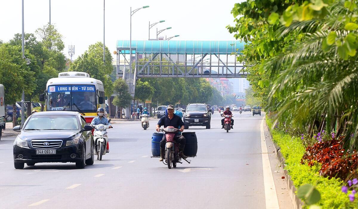 Hiện nay trục đường đã rất thông thoáng và không còn xảy ra tình trạng tắc đường.