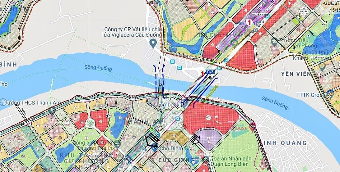 Hình ảnh trên bản đồ vị trí cầu đuống 2.