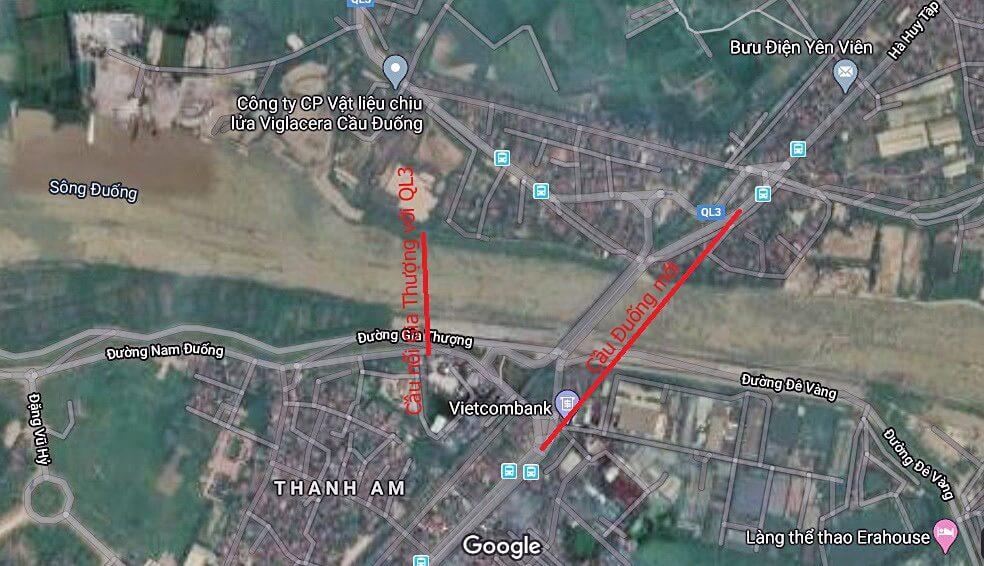 Hình ảnh vị trí cầu Đuống 2.