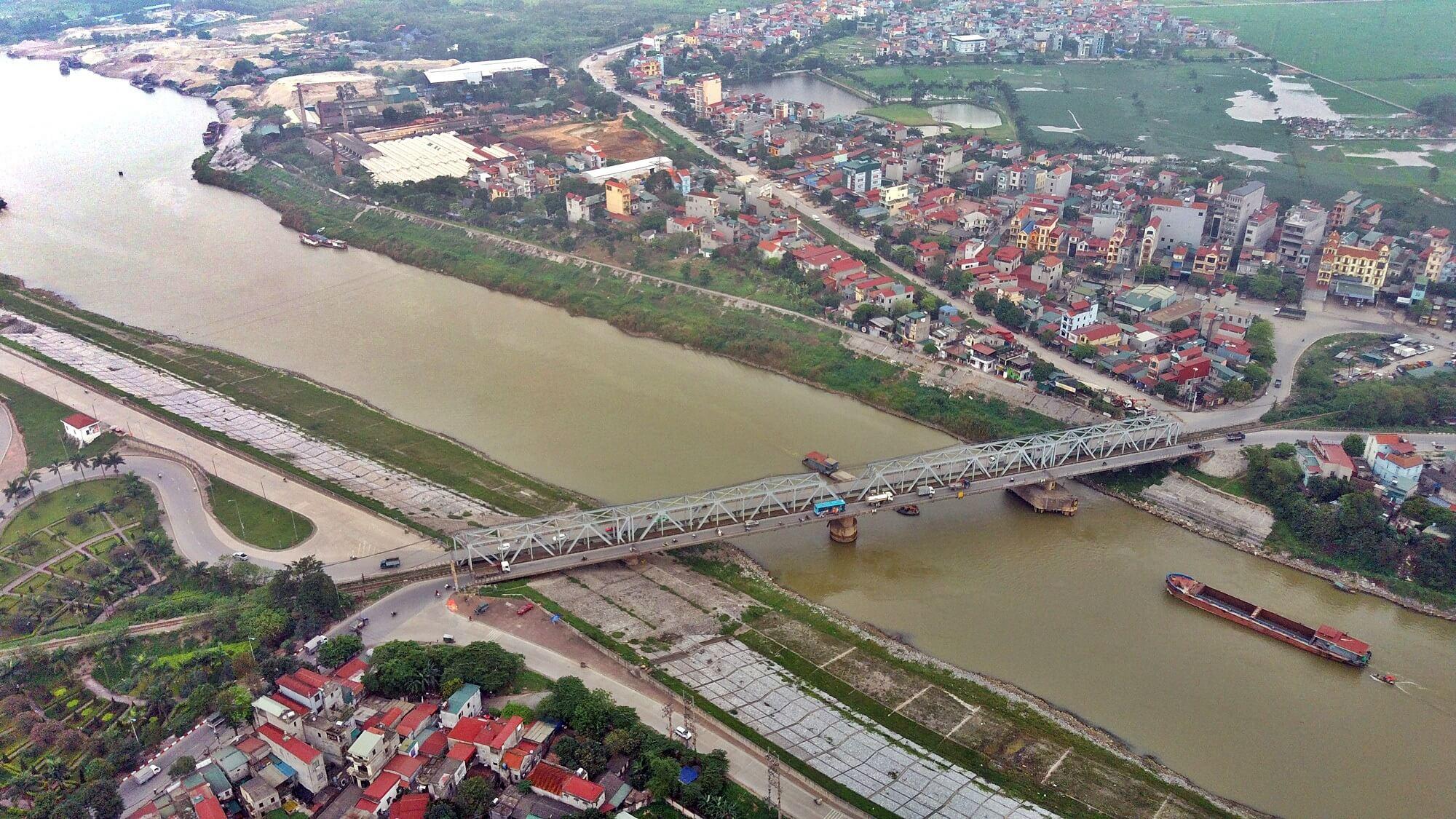 Cầu Đuống mới sau khi hoàn thành sẽ óa đi nút thắt trên lộ trình.