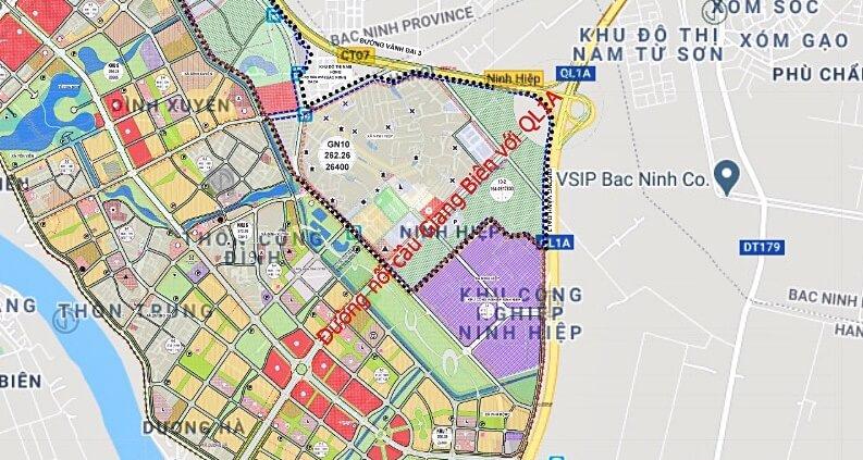 Đường dẫn cầu Giang Biên tại Ninh Hiệp.
