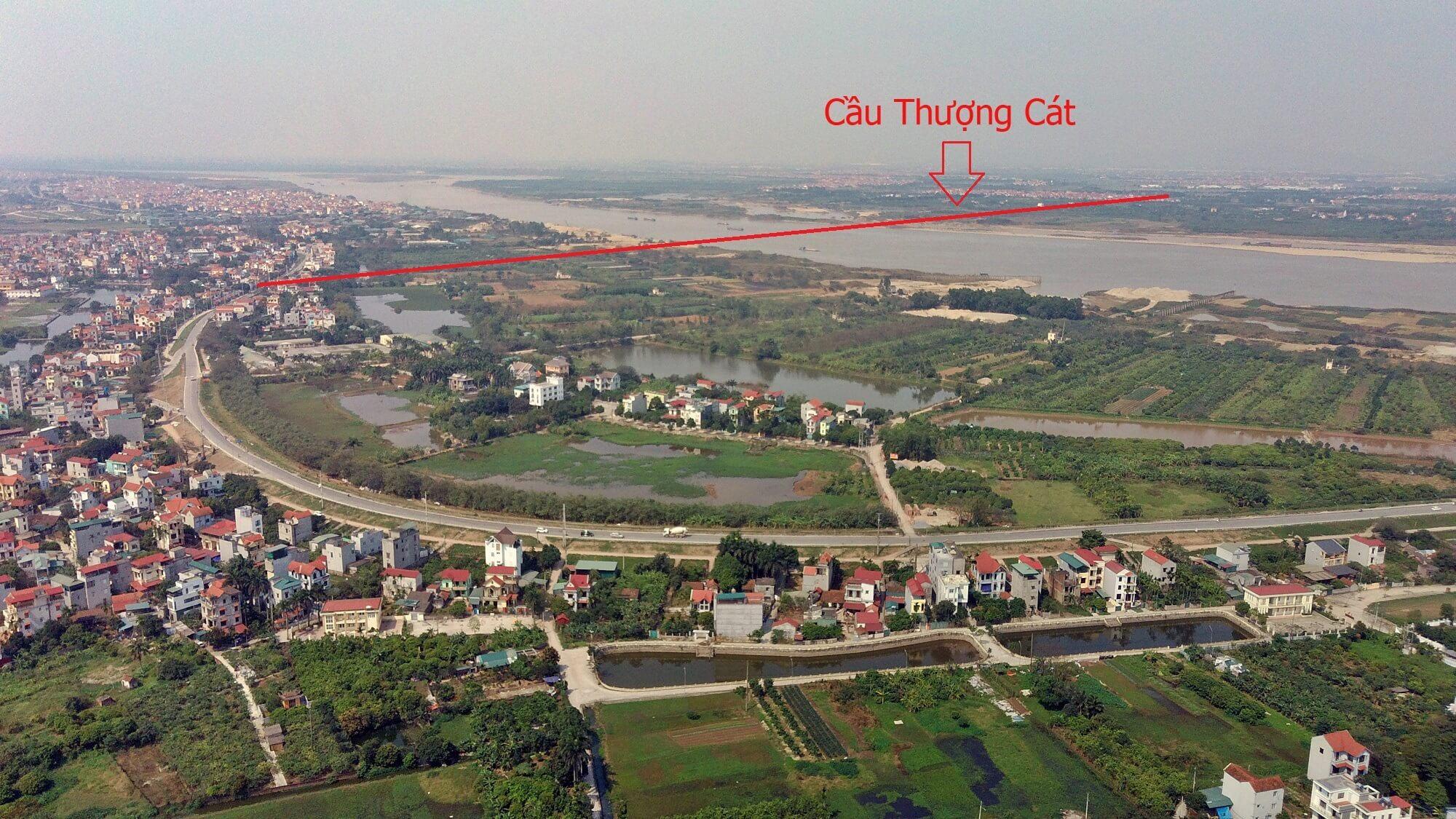 Đoạn từ đê Thượng Cát bắc qua sông Hồng.