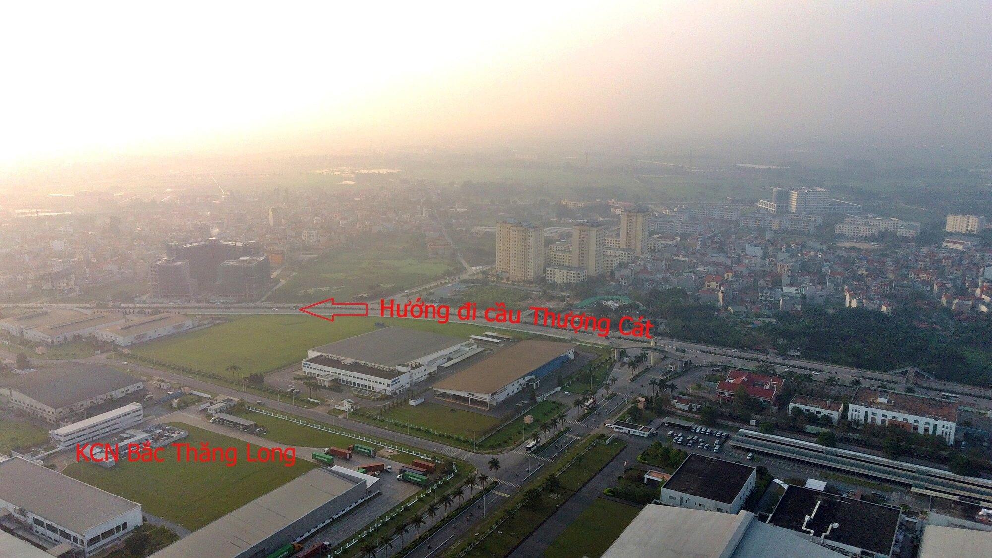 Đường vành đai 3,5 đoạn qua khu công nghiệp Bắc Thăng Long chạy về cầu Thượng Cát đã thông xe rất lâu.