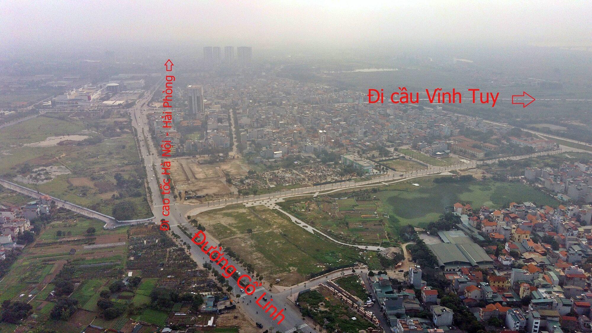 Từ nút giao Cổ Linh, người dân có thể đi đến trực tiếp đường cao tốc Hà Nội - Hải Phòng.