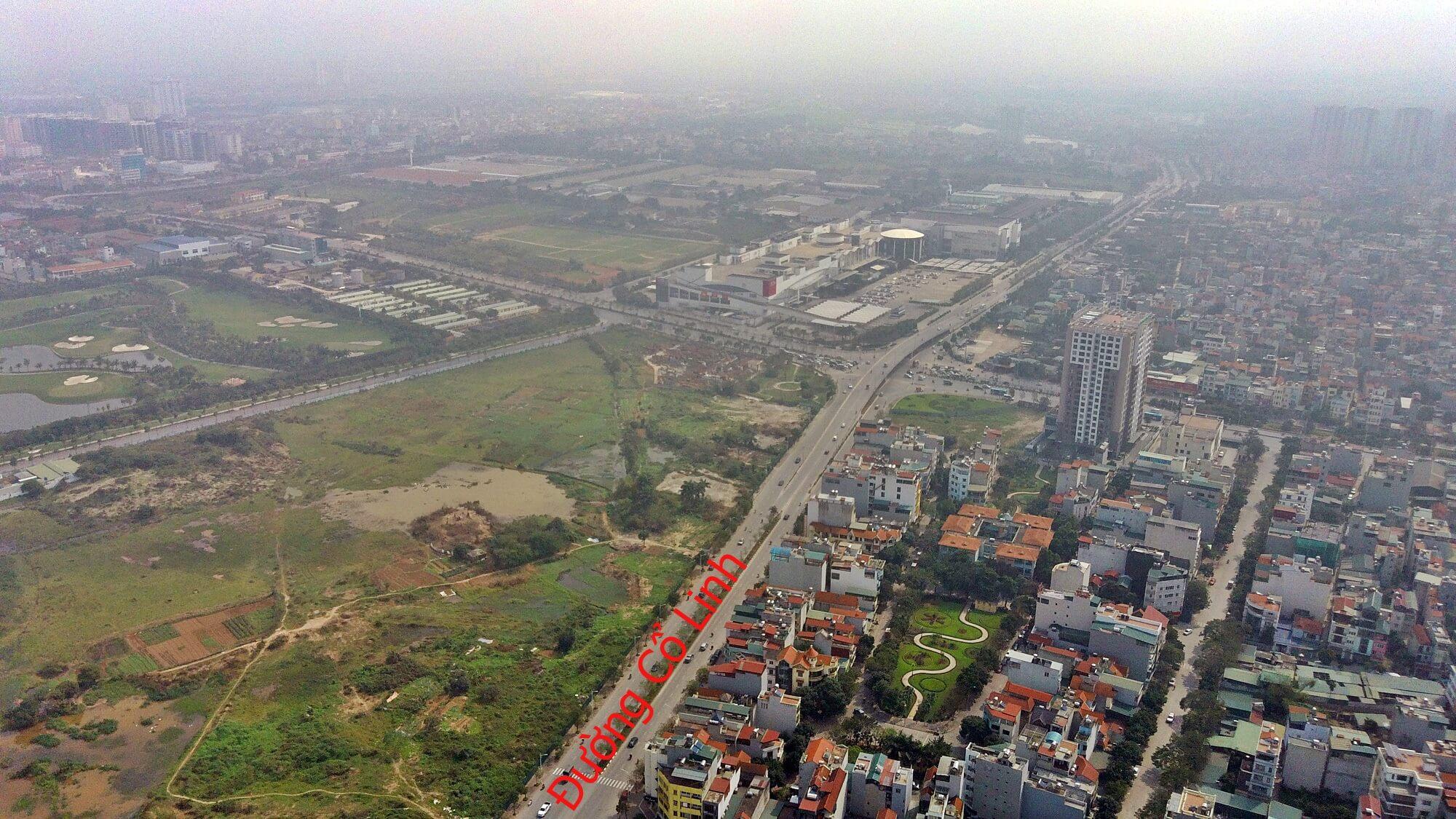Lộ trình đường Cổ Linh, rẽ phải đi cầu Vĩnh Tuy, rẽ trái qua quốc lộ 5.