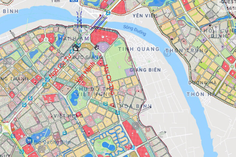 Đường Vạn Hạnh, Mai Chí Thọ kết nối với nút giao thông chân cầu Đuống.