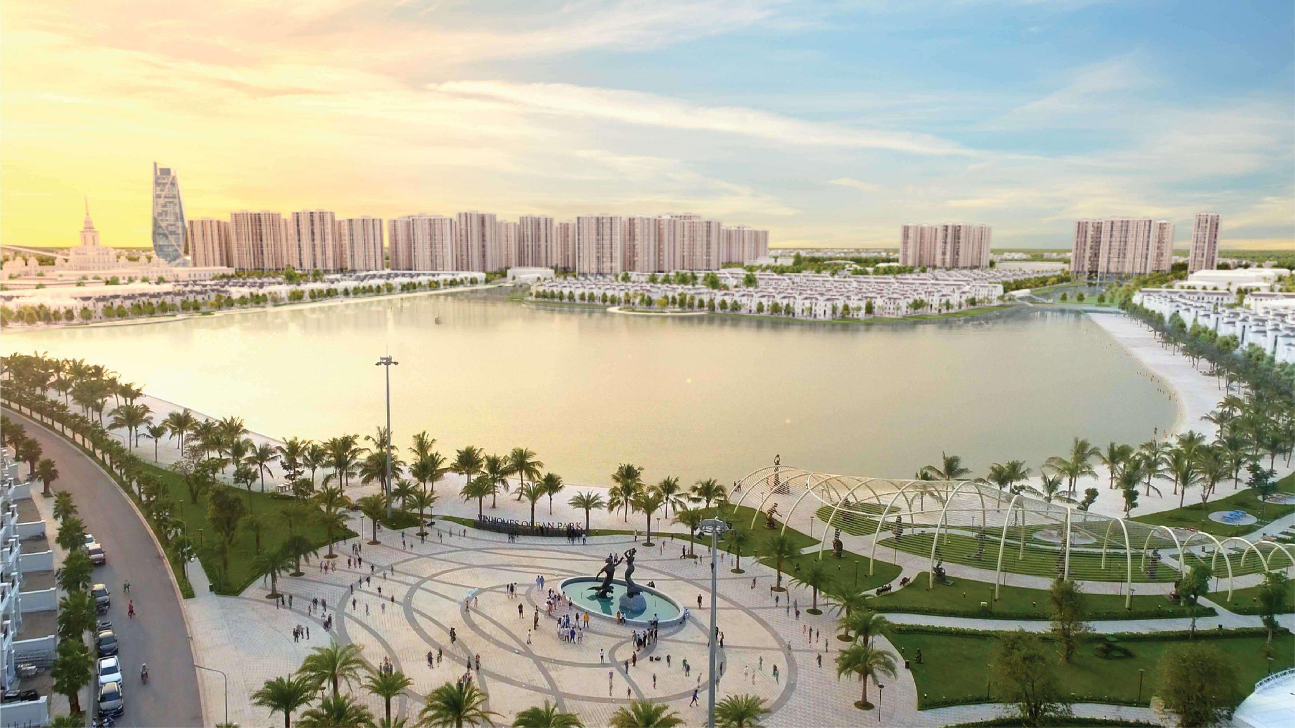 Vinhomes Oean Park là một trong số các dự án đẳng cấp nhất hưởng lợi từ hầm/cầu Trần Hưng Đạo.