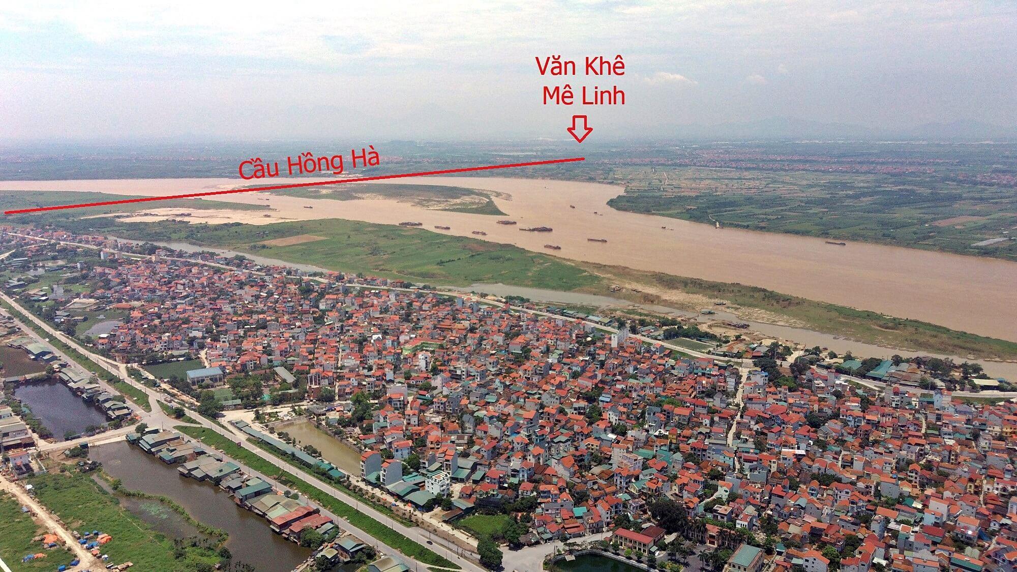 Phíc Bắc cầu nằm trên địa bàn xã Văn Khê, huyện Mê Linh.
