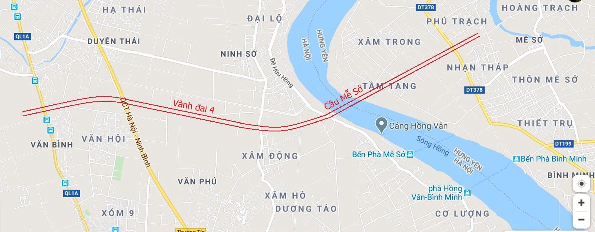 Lộ trình đường đi của cầu Mễ Sở.