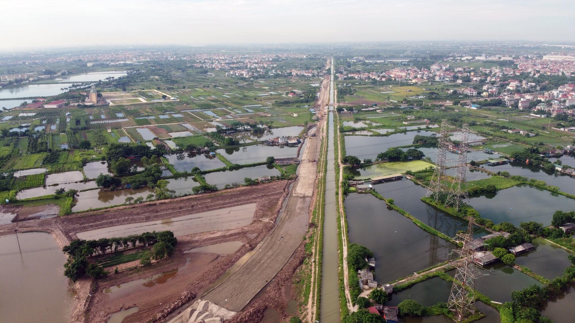 Tuyến đường vành đai 4 nối chân cầu Mễ Sở đi cắt tuyến đường nối từ KCN Bắc Thường Tín đến tỉnh lộ 427.
