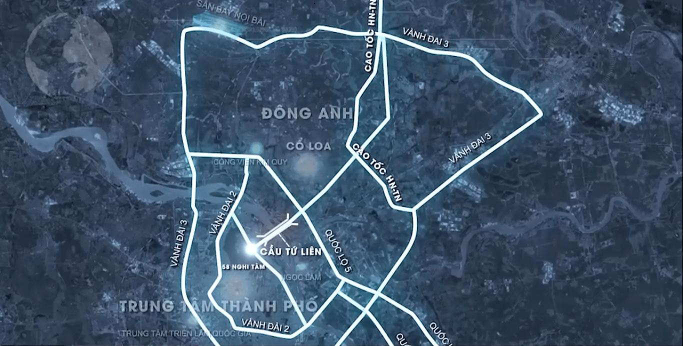 Lộ trình giao thông khép kín xung quanh cầu Tứ Liên.
