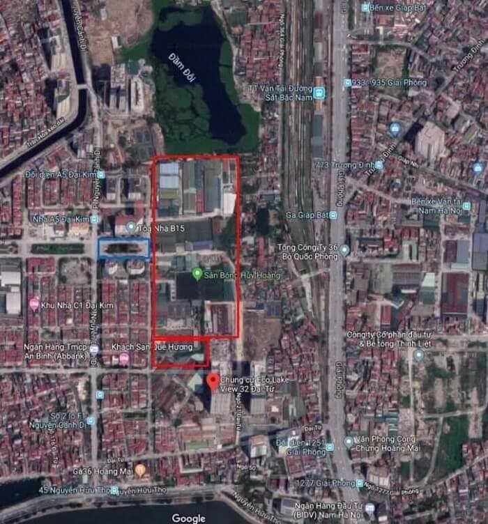 Lô đất xây dựng dự án TTTM Aeon Mall Hoàng Mai.