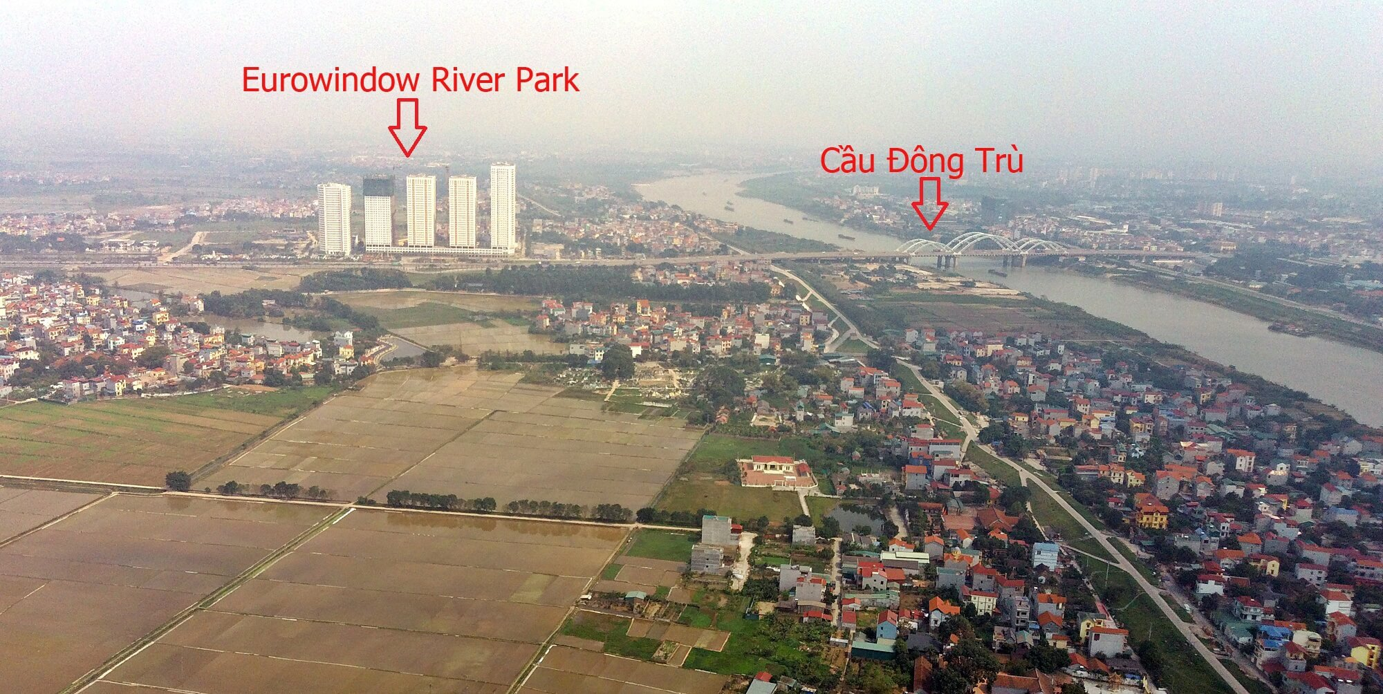 Hình ảnh từ xa của dự án Eurowindow River Park.