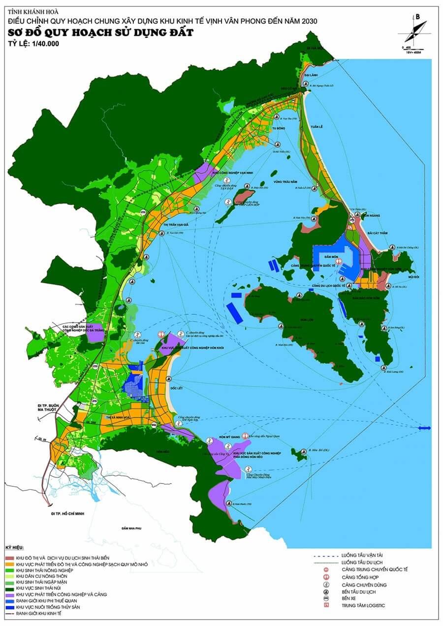 Bản đồ quy hoạch Bắc Vân Phong.