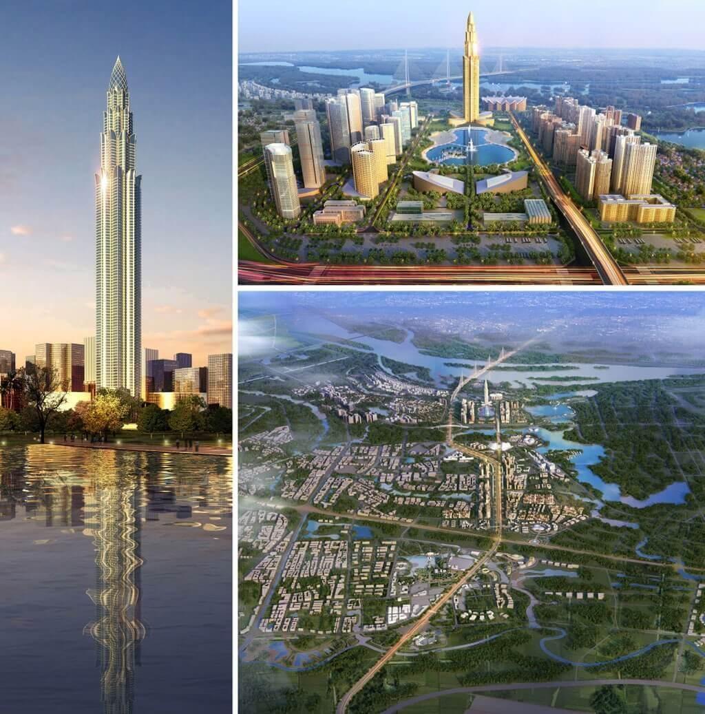 Phối cảnh tổng thể dự án thành phố thông minh Đông Anh ( Smart City Đông Anh ).