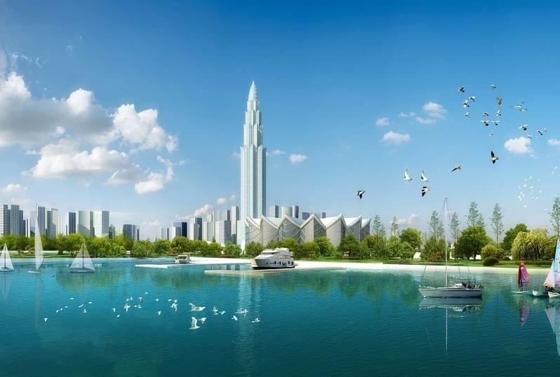 Hình ảnh tháp tài chính Phương Trạch.