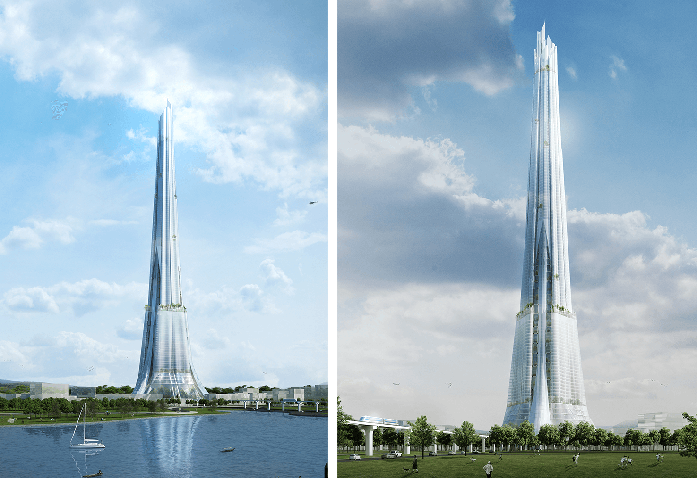 Tháp tài chính Phương Trạch tuyệt đẹp với thiết kế đỉnh cao.