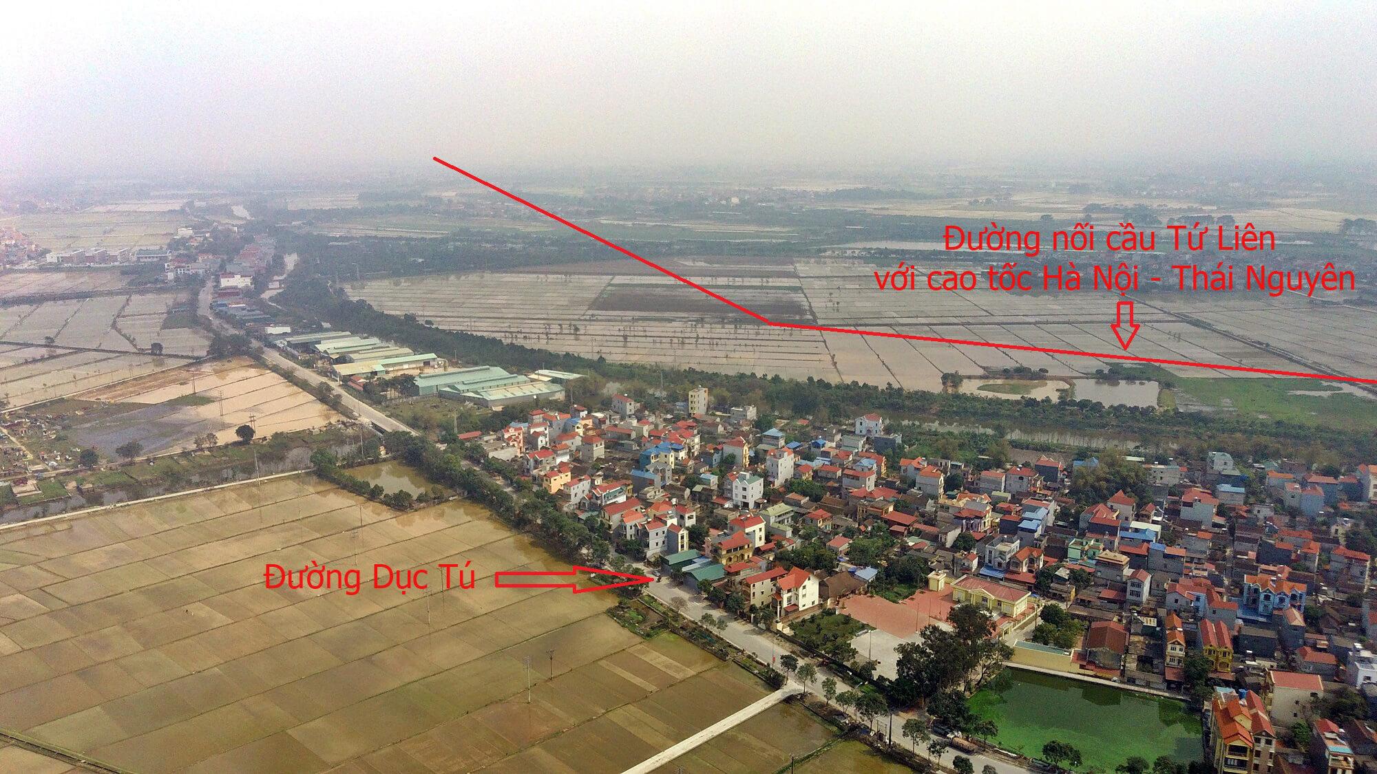 Trục đường nối cầu Tứ Liên với nút giao tại cao tốc Hà Nội, Thái Nguyên nằm trên địa bàn của xã Liên Hà, Đông Anh.