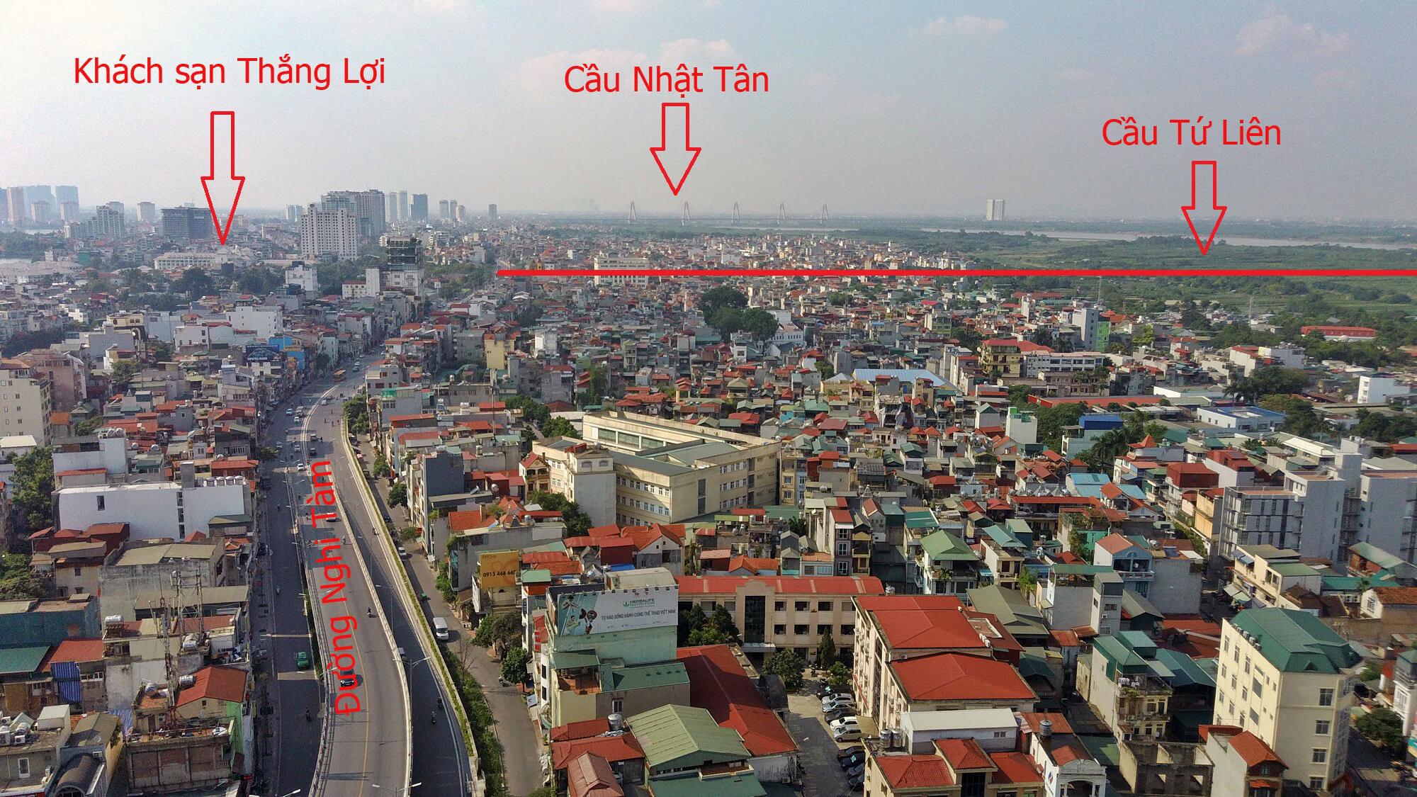 Nút giao ở chân cầu phía Hà Nội rất gần với khách sạn Thắng Lợi.