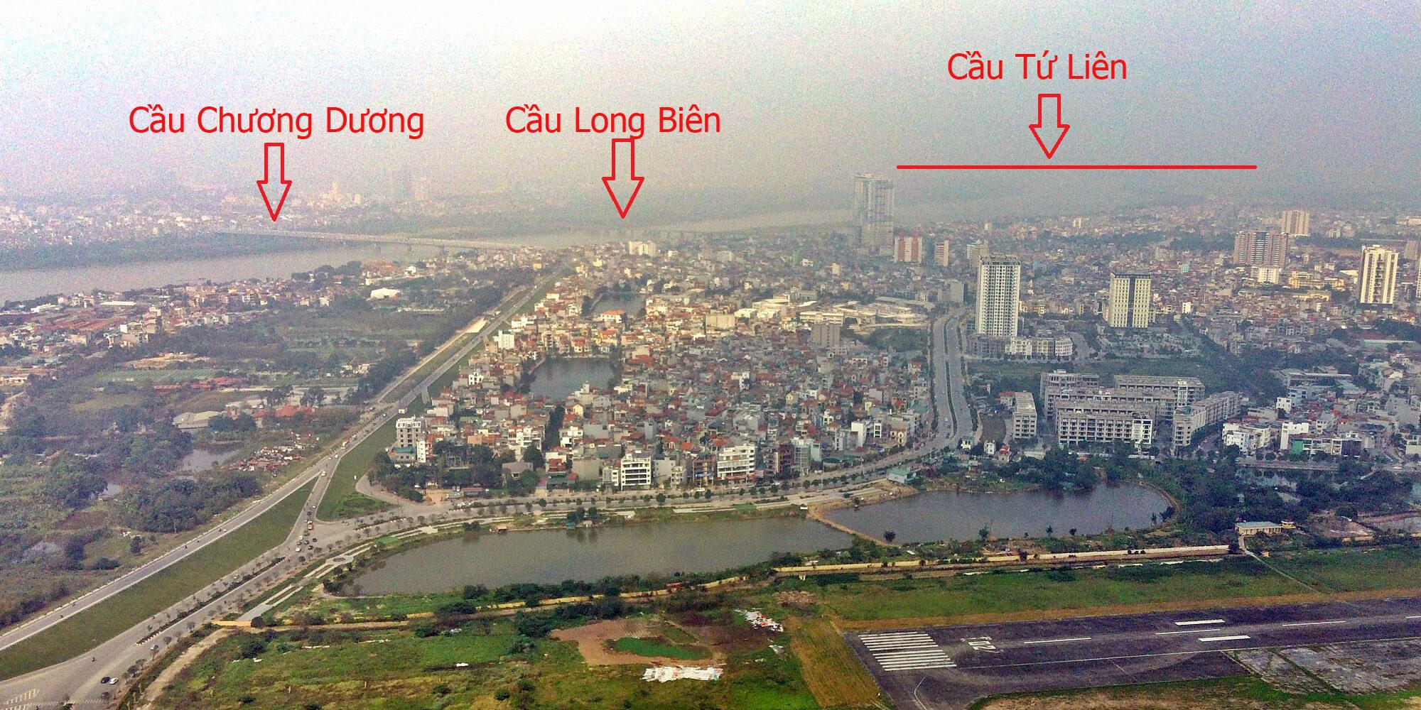 Cầu Tứ Liên nằm gần với cầu Chương Dương và Long Biên.