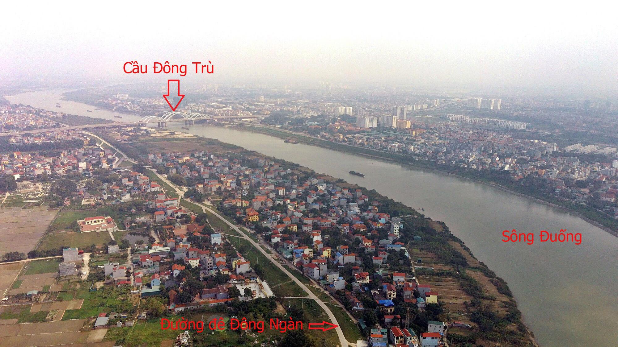 Cầu Tứ Liên và Đông Trù sẽ có điểm giao nhau rất gần.