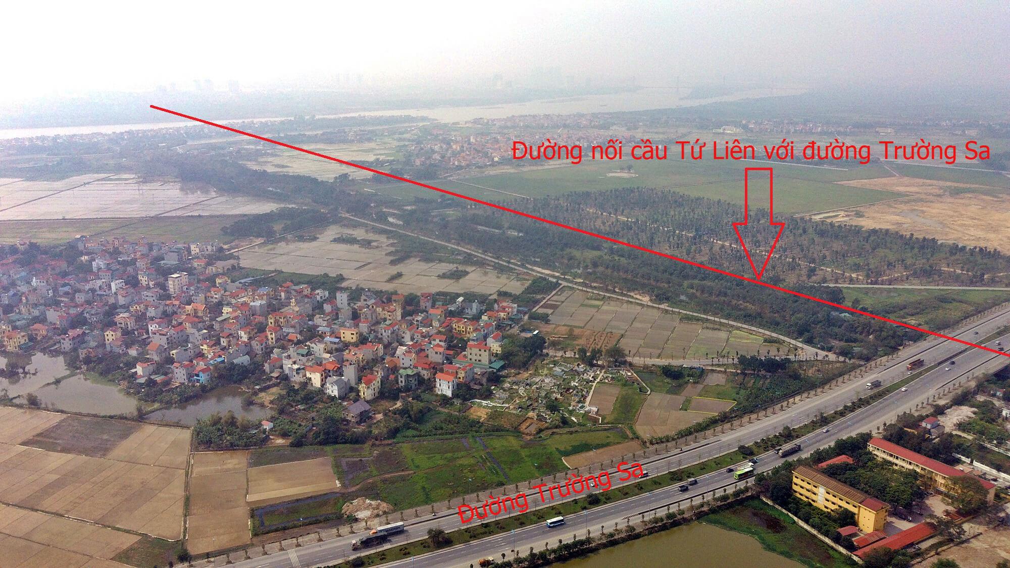 Nút giao giữa cầu Tứ Liên và đường Trường Sa.
