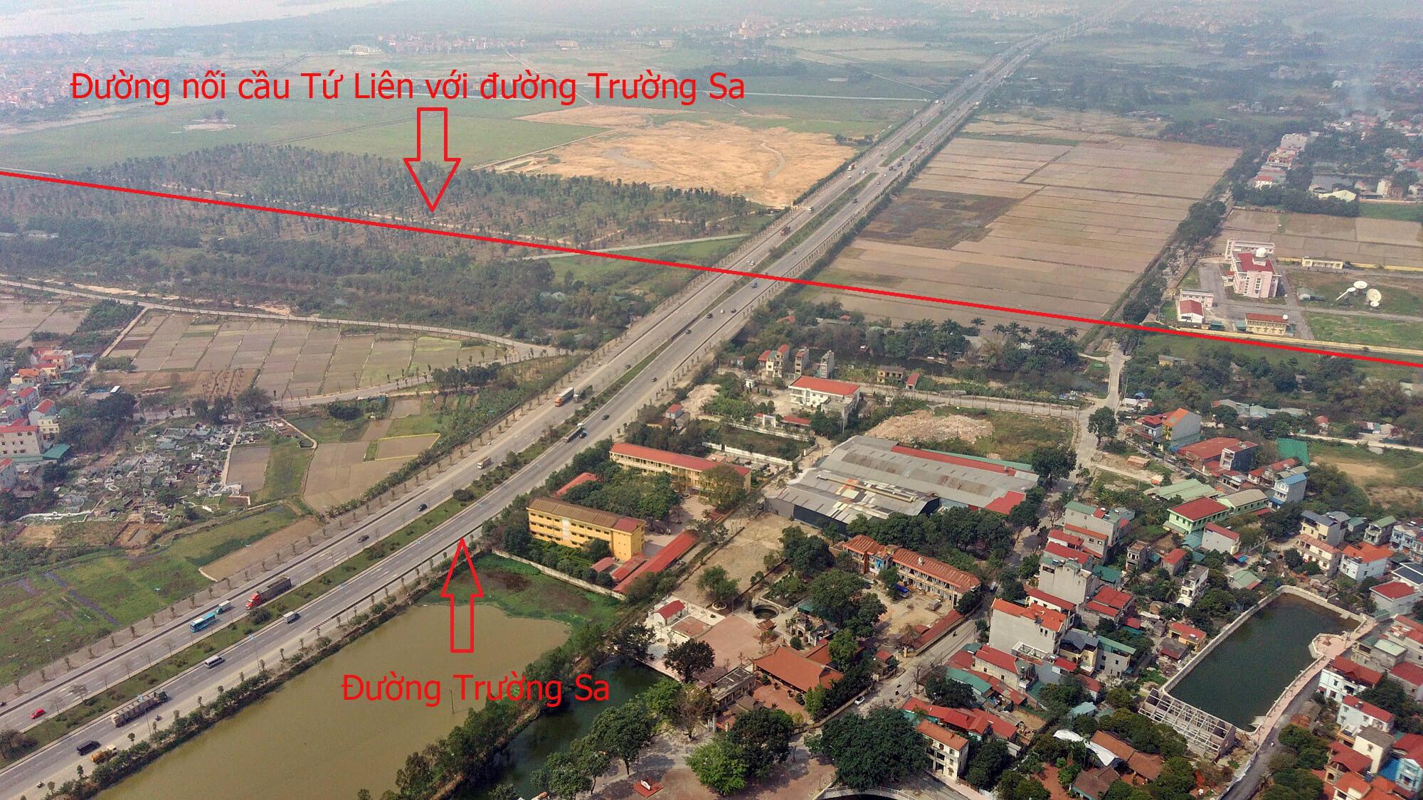 Cận cảnh nút giao thông cầu Tứ Liên - Trường Sa.