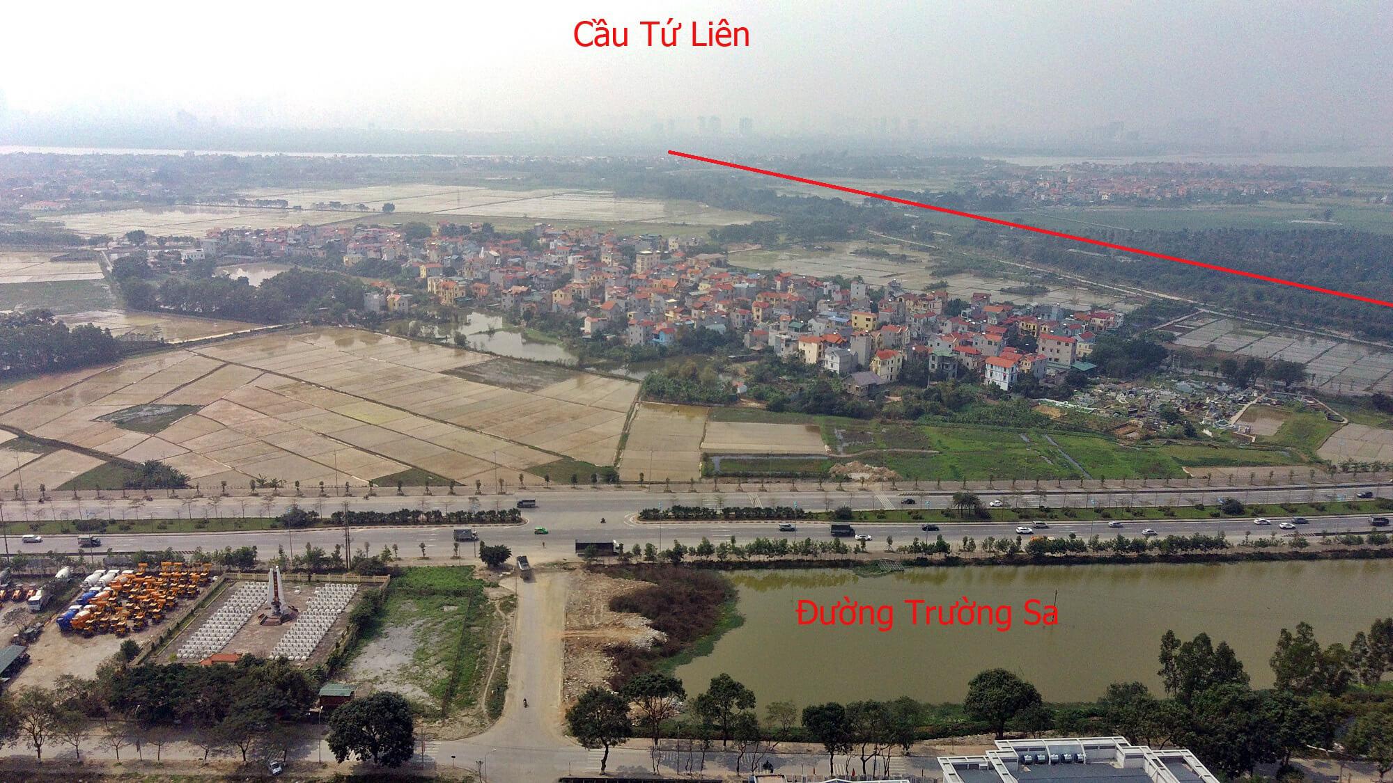 Cầu Tứ Liên sẽ chạy song hành với sông Ngũ Huyện Khê.