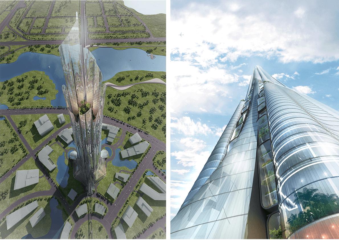 Cận cảnh thiết kế của Phương Trạch Tower dưới góc nhìn khác.