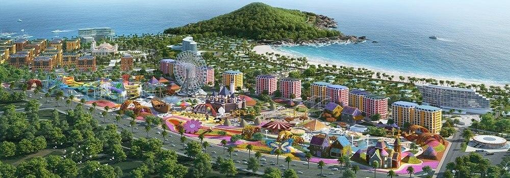 Phân khu Tropical Monaco tại Wonder City Vân Phong Bay.