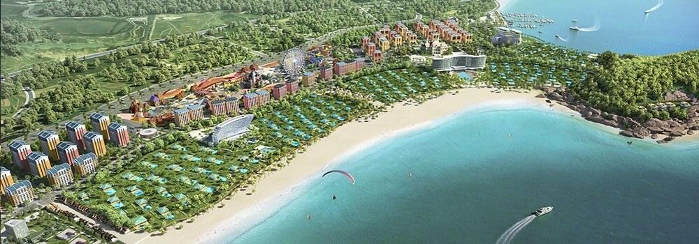Bãi biển trải dài tại Wonder City Vân Phong Bay.