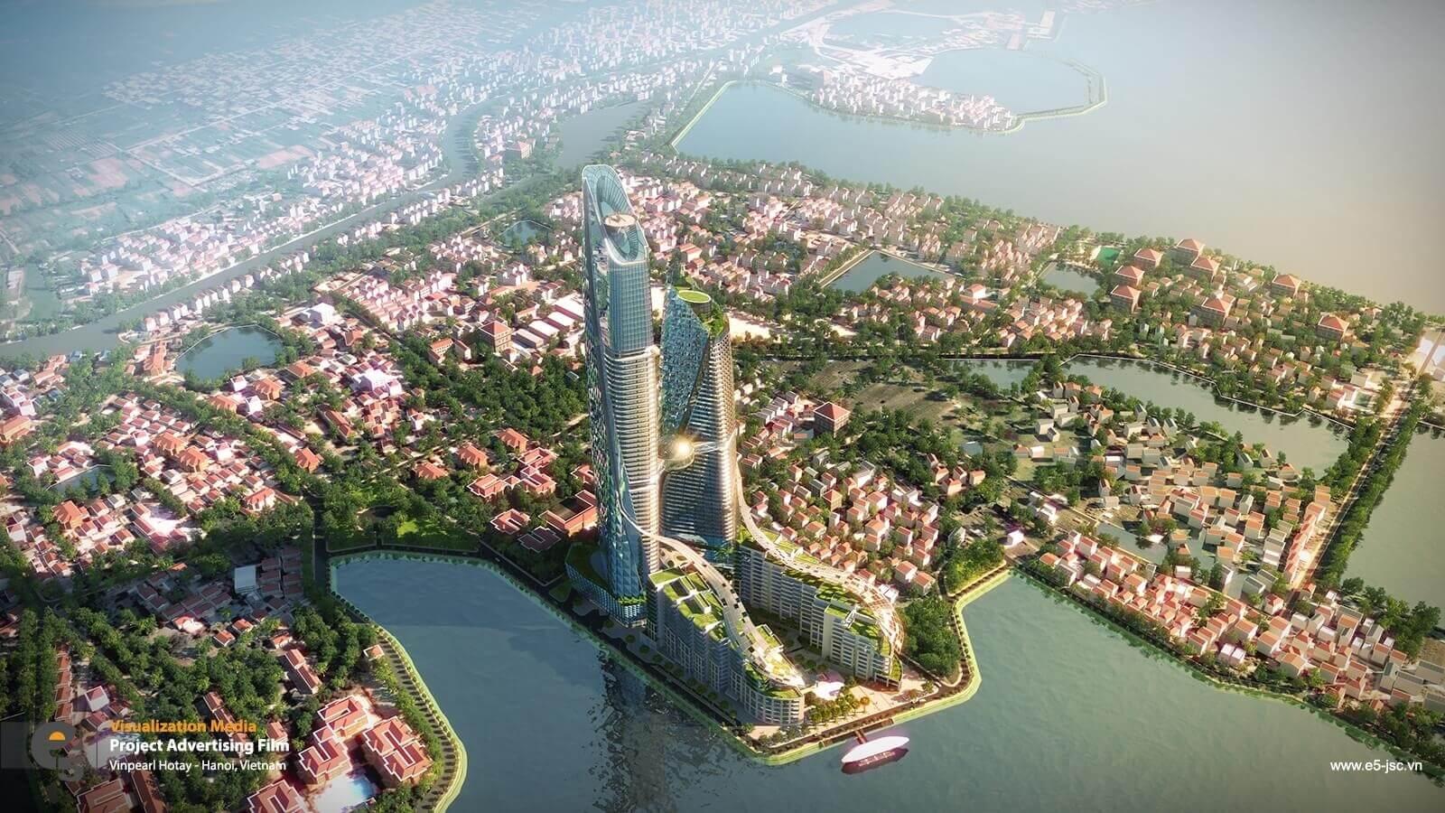 Phối cảnh tổng thể của dự án Sun Group Quảng Bá, Quảng An, Tây Hồ.