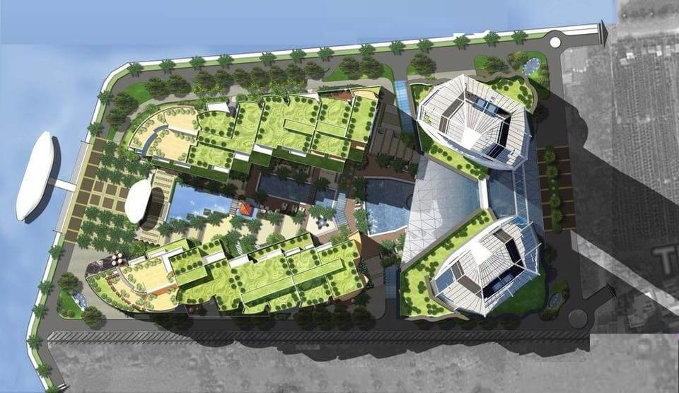 Phối cảnh tổng thể của dự án Sun Quảng An.
