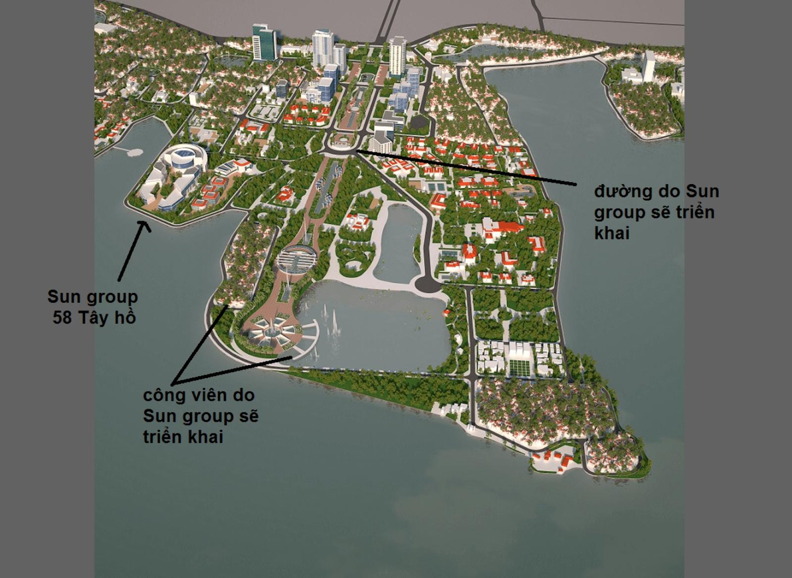 Quy hoạch đường xá và dự án ở khu vực phường Quảng An.