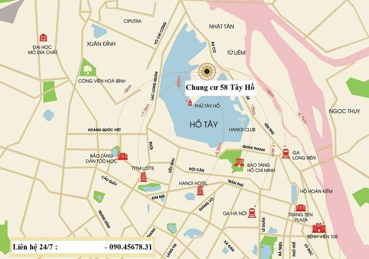 Kết nối giao thông của Sun Group Quảng An cực kỳ dễ dàng.