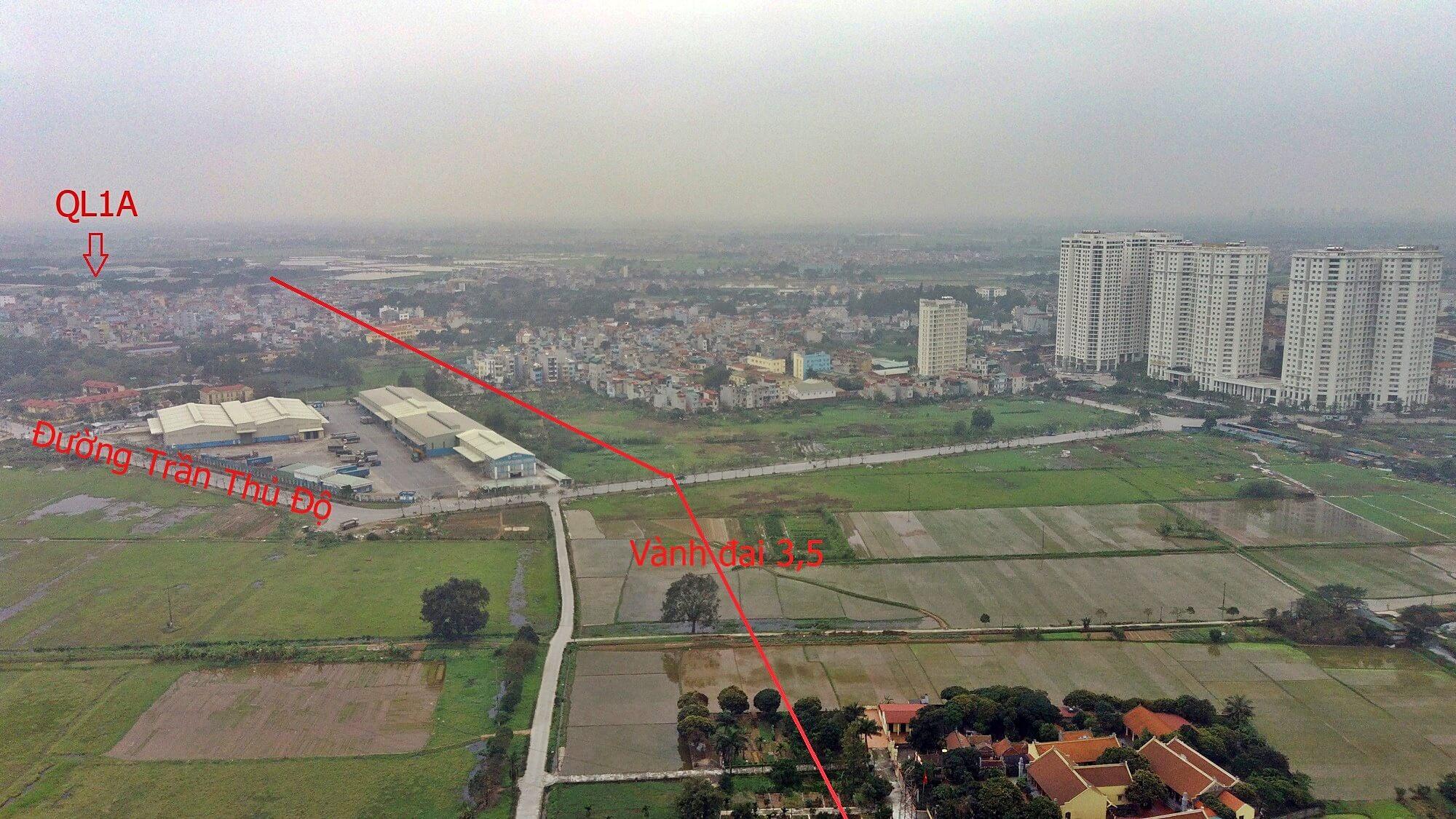 Đường đi chủ yếu nằm nằm trên đất ruộng nên chi phí GPMB làm đường vành đai 3,5 và đường dẫn cầu Ngọc Hồi cũng sẽ không quá lớn.
