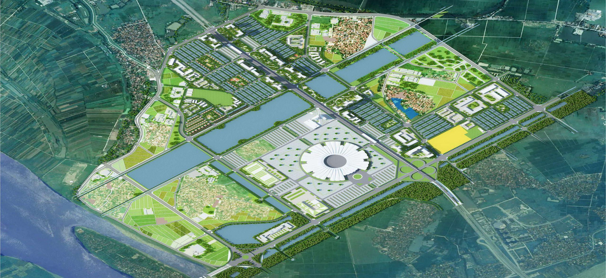 Trung tâm hội chợ, triển lãm quốc gia sẽ được chia thành nhiều phân khu.