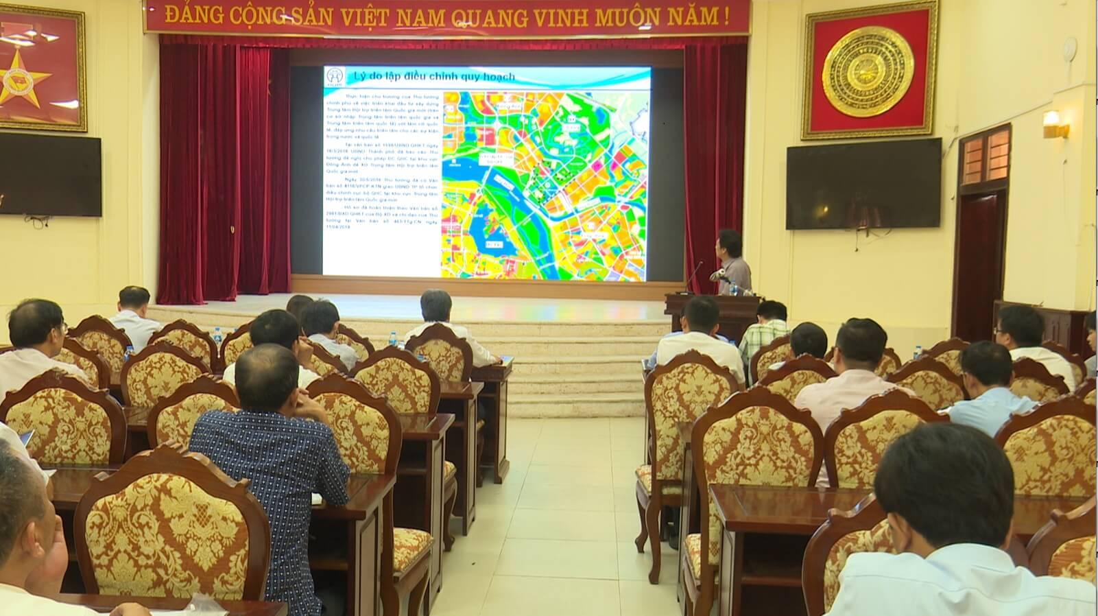 Buổi lễ công bố các thông tin về quy hoạch, chỉnh trang của khu trung tâm hội chợ triển lãm quốc gia.