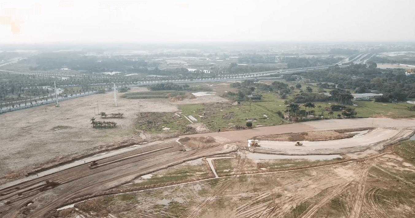 Một góc nhìn khác về tiến độ dự án công viên Kim Quy.