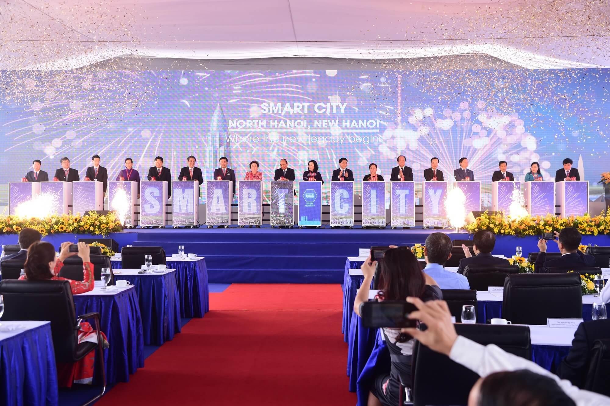 Lễ khởi công dự án thành phố thông minh Đông Anh ( Smart City ).