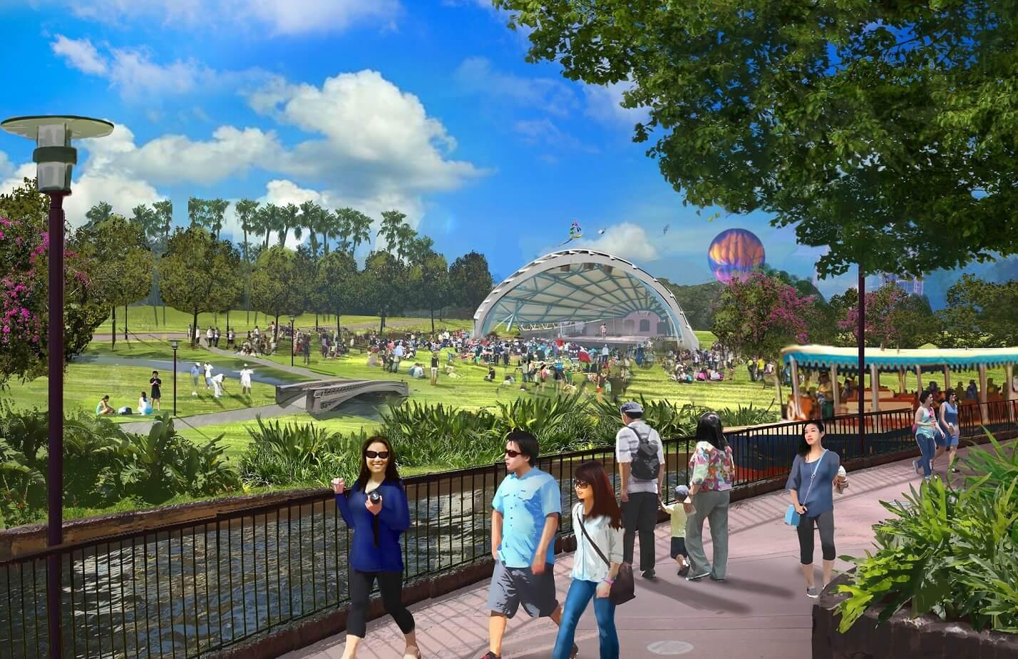 Không gian cây xanh, dạo bộ tại công viên Kim Quy.