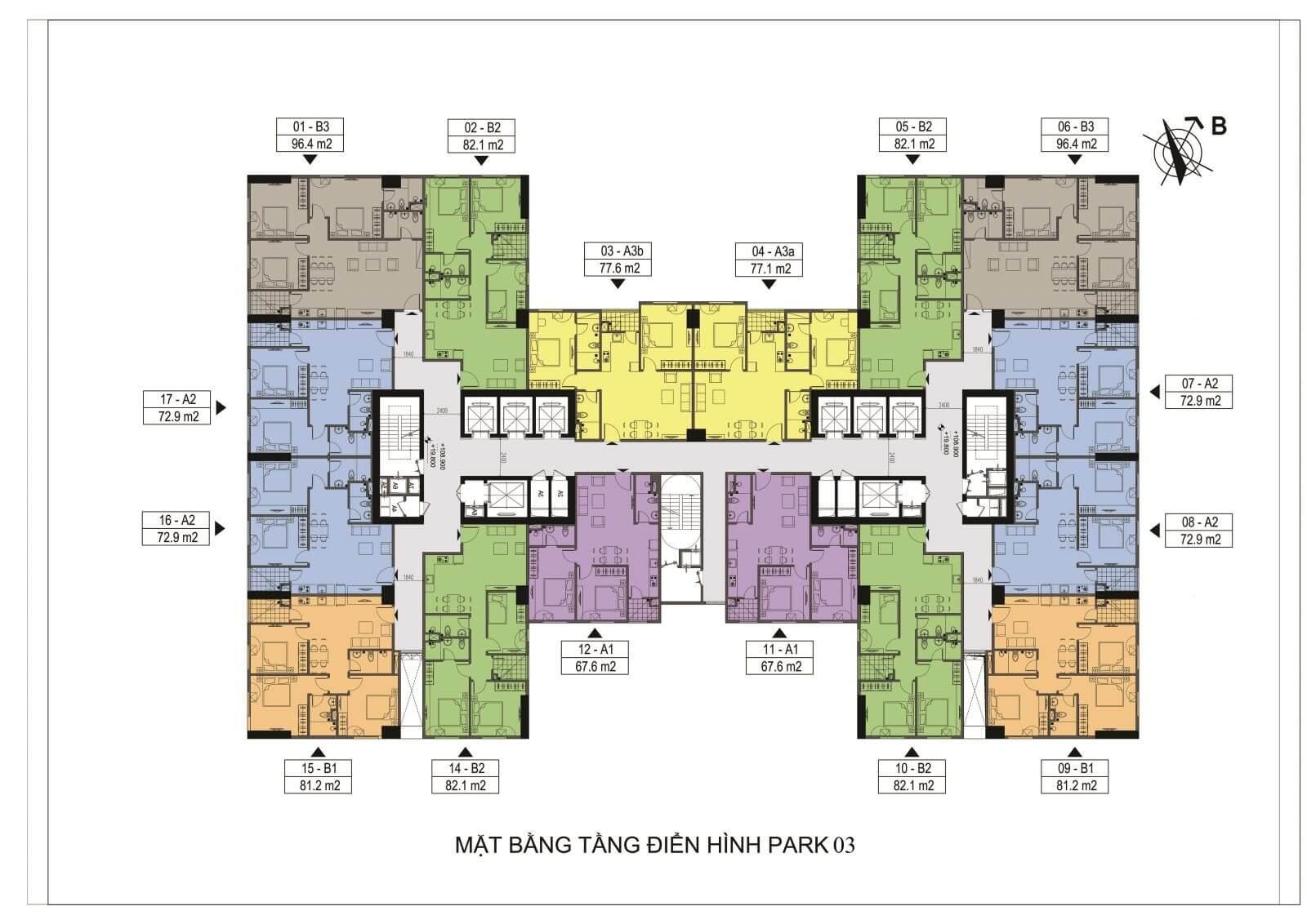 Thiết kế căn hộ tòa Park 3 Eurowindow River Park.