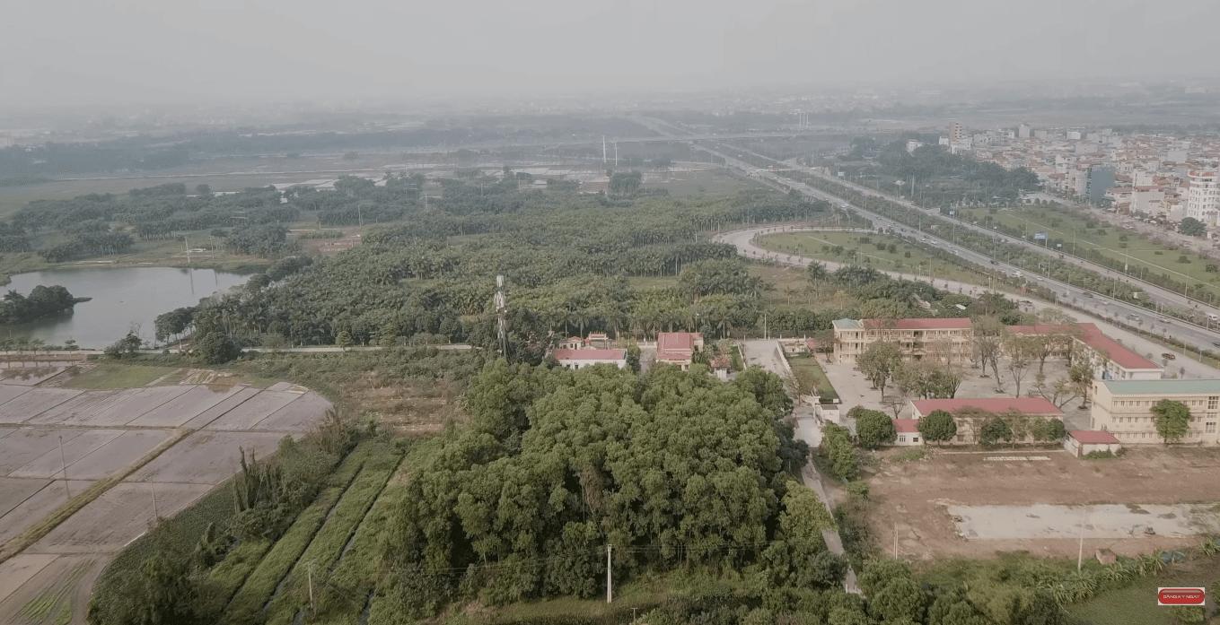 Khu vực dự án thành phố thông minh Đông Anh nằm giáp với chân cầu Nhật Tân.