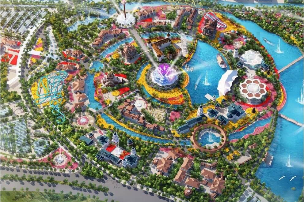 Ý tưởng thiết kế công viên Kim Quy được lấy từ thần Kim Quy.