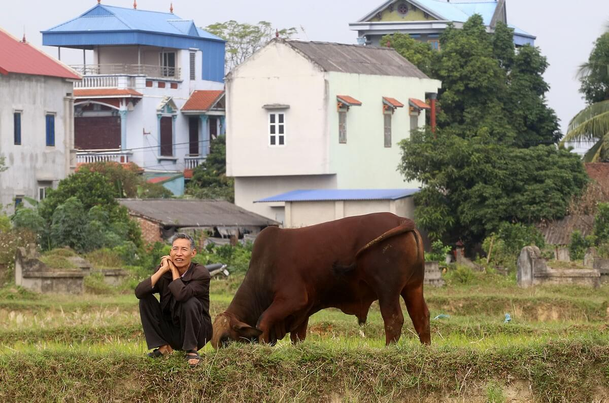Tôi rất vui khi dự án về đây, con cái tôi sẽ có thể làm việc trên chính mảnh đất quê hương mà không phải đi đâu xa ( ông Nguyễn Văn Bổn trú tại xã Tân Minh chia sẻ ).