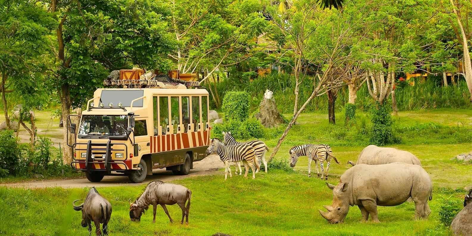 Vinpearl Safari Gia Lâm là khu công viên, giải trí, bảo tồn lớn hàng đầu miền Bắc.